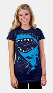 Shark with pixelated teeth! Women's
