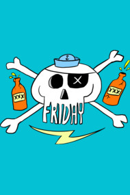 Friday - Pirate skull