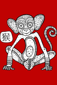 Cartoon monkey.