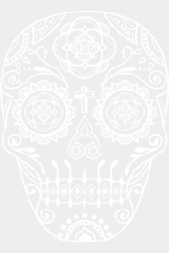 Day of the Dead Deco Skull 4