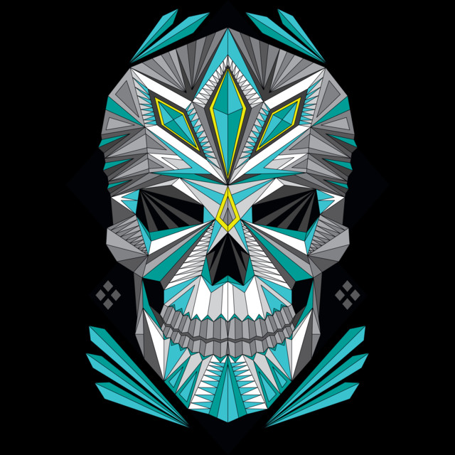 Geometric Skull T Shirt By ChadWoodward Design By Humans