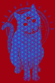 Trippy Kitty: flower of life edition