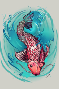 Koi Fish Splash