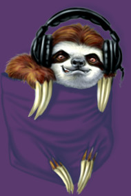 Little Pocket Sloth Jammin to My Heartbeats