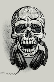 Another Skull With Headphones