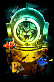 Crazy Kitty Coddled Under the Sea