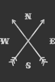Hipster Crossed Arrows - Compass (NSEW)
