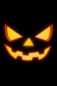 Scary Halloween Horror Pumpkin Face