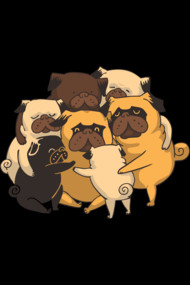 Pugs Group Hug