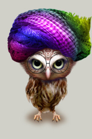 OWLET WITH TURBAN