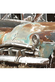 Old Rusty Blue Car