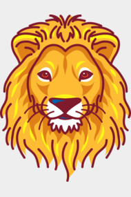 Cool Lion Head Illustration