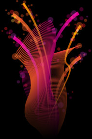 Abstract Digital Design with Bright and Glowing Colors