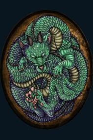Jade Dragon in Egg