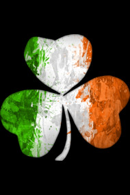 Irish Flag Shamrock Grunge