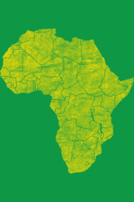 African Continent - Weathered Gold