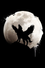 moon wolf wings