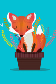 Fox in a pot