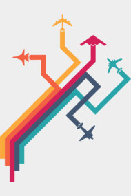Colorful Vector Airplanes