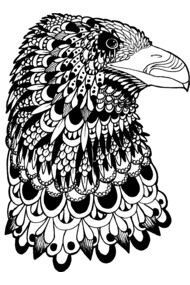 Zentangle Eagle Head