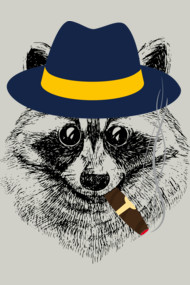 Smoking Raccoon