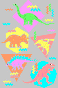 Nineties Dinosaur Pattern