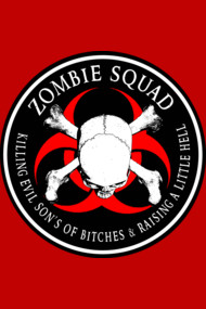 Biohazard Zombie Squad 4 Ring Patch outlined 9