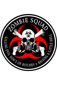 Biohazard Zombie Squad 4 Ring Patch outlined 2 9