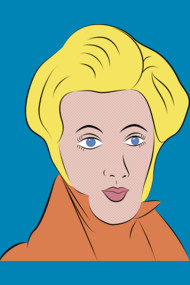 Soren Kierkegaard in Lichtenstein Pop Art Style