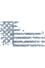 Glittery Blue Abstract USA Flag