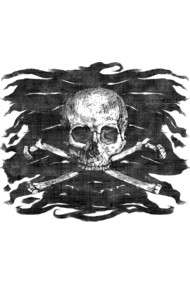 Old Skull Crossbones Pirate Flag