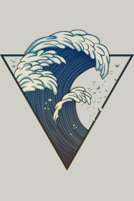 wave in triangle