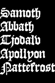 Famous black metal musicians forming the word SATAN