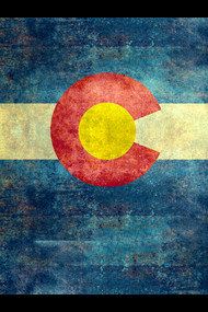 Colorado state flag - retro vintage version