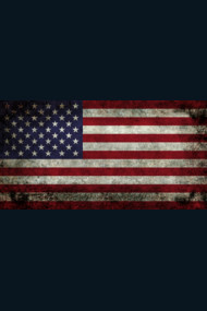 American Flag, super dark grunge
