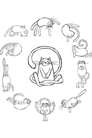 yoga cats black resize