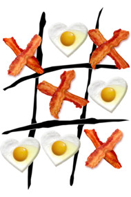 Bacon Tic Tac Toe