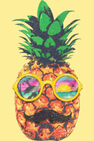 Sun Bathing Hipster Pineapple