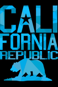 California Republic Bear (ice blue version)