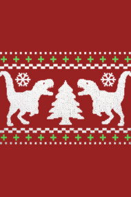 T-Rex Ugly Holiday Sweater