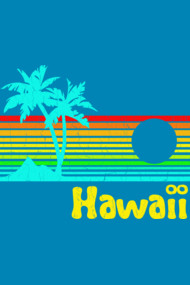 1980's Hawaii (vintage distressed look)