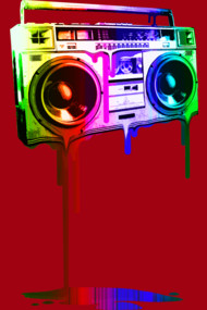 Melting Boombox (digital rainbow look)