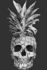 Pineapple Skull Black & White