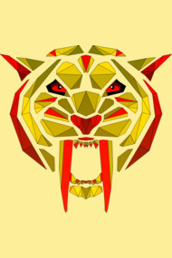 saber-tooth tiger yellow