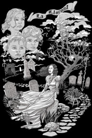 Hispanic Legend La Llorona (black and white)