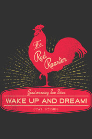 Vintage Rooster : Wake Up and Dream!