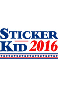 Sticker Kid For President 2016