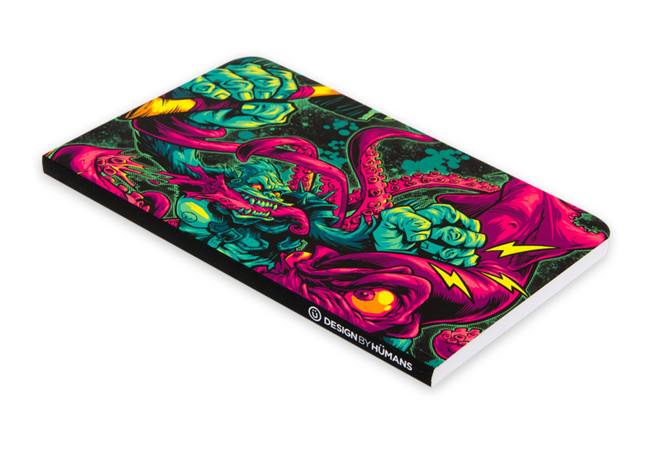 GORILLA VS. ARCHITEUTHIS Notebook - Design By Humans