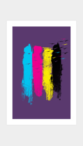 Escape in CMYK Art Prints
