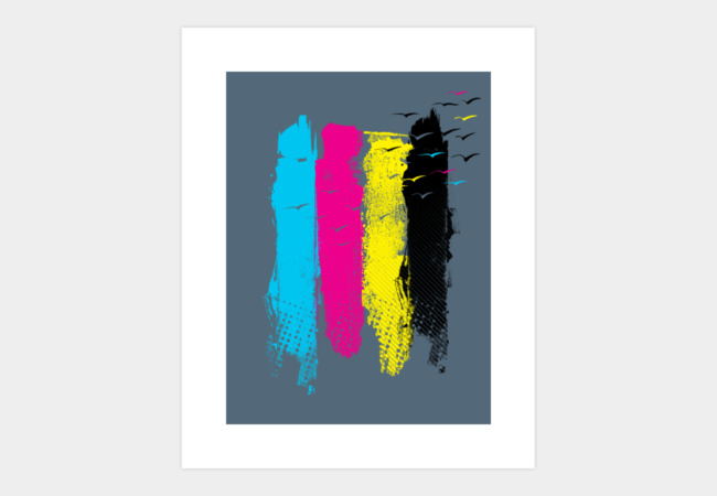Escape in CMYK Art Print - Design By Humans